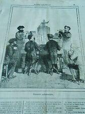 Caricature 1874 - Musique Concert Harmonie parlementaire