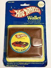 Hot Wheels Vintage Hot Bird Wallet MIP 1982 Mattel Rare Billfold #8805