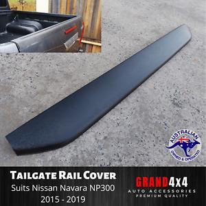 Tailgate Cover Cap Trim Guard Matte Black for Nissan Navara NP300 2015 - 2019