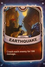 Skylanders Battlecast Collector's Card Spell Earthquake