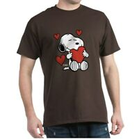 CafePress Peanuts: Snoopy Heart T Shirt 100% Cotton T-Shirt (181918720)