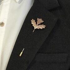 Navidad Retro Broche Pin Collar Traje de hoja de arce oro Palo hombres mujeres Pin de Solapa
