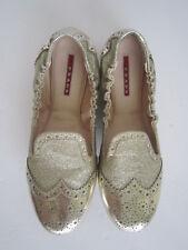 Prada Silver Ballerina Flats Size 39 US 9
