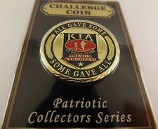 CHALLENGE COIN, NEW K.I.A. ALL GAVE SOME, SOME GAVE ALL Enameled PATRIOTIC 1-5/8