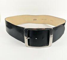 M & S Per Una Black Patent Leather Wide Hip Belt medium W34-38 inches