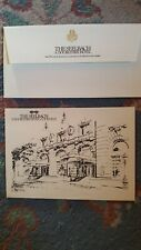 The Seelbach Louisville 4 x 5 pen and ink printed postcard & small Seelbach envl