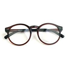 Nerd Brille filigran rund Glasses Klarglas Hornbrille treber 41R82 brown eyewear