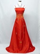 Cherlone Plus Size Red Ballgown Bridesmaid Formal Wedding/Evening Dress 20-22