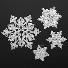 4X Snowflake Metal Cutting Dies Stencils DIY Scrapbook Album Paper Card Craft X