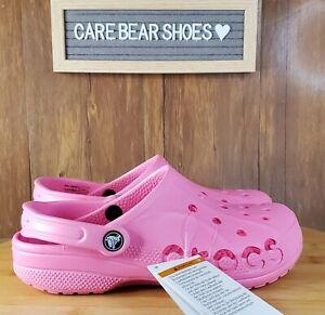 Crocs Unisex Baya Clog Slides Sandals Slipper Pink 10126-669 SIZE MEN 5 /WOMEN 7