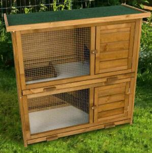 Hasenstall Kaninchenstall Kleintierstall doppelstöckige Haltung  Maße: 91,5 x 45