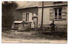 LIHUS LE GRAND 60 - LA CABINE TELEPHONIQUE, PLAQUE EMAILLEE animé - OISE