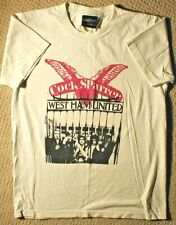Vintage 90s COCK SPARRER Punk Rock Band T Shirt Wall of Fame Size S M Ham United