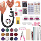 Practice Hand for Acrylic Nails,Acrylic Powder/Training Finger/Glitter File/Glue