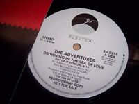 """NM 1988 The Adventures Drowning In The Seal Of PROMO 12"""" Single Sample LP Album"""
