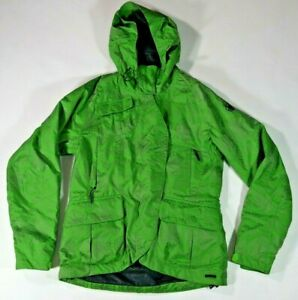 Spyder Green Patterned Hooded Thinsulate Ski Jacket Women's Size Small
