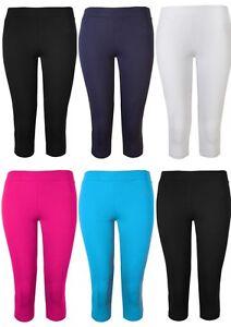 Womens Leggings Ladies Crop Capri Pants Brody & Co 3/4 Gym Dance Yoga Running