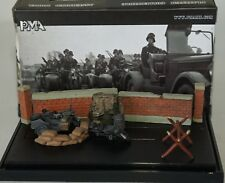PMA P0306 German Motor R75 3rd SS Tank Div Recon unit with Diorama in  1:72