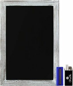 HBCY Creations Rustic Whitewash Magnetic Wall Chalkboard Extra Large 20 x 30 in