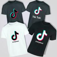 TikTok Logo Novelty Personalised and Customise Kids T Shirt Viral Music Videos