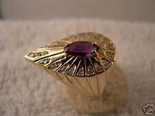 "14K Gold Art Deco Ring - ""PEACOCK"""