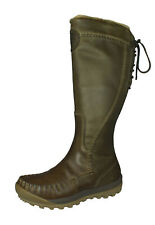 Timberland Mount Holly Zip Waterproof Womens Leather Boots Knee-High Taupe