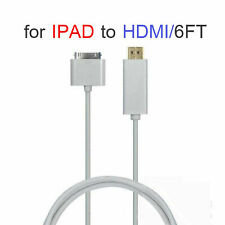 1.8M Dock Connector 30pin to HDMI 1080P TV Cable Adapter for iPad 2 3 IN