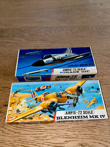 Lot Deux Maquette Airfix 1/72 Avions, Mirage Dassault,Blenheim Mk