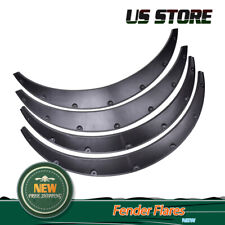 4x Fender Flares Fit Universal Black Flexible Durable Polyurethane Auto Car Body