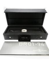 Bell&ross BR01-94 Automatisch Chronograph Gummi Gürtel Uhr Gebraucht Ex