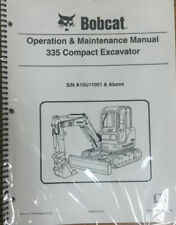 Bobcat 335 Compact Excavator Service Manual & Operator Book Part 6904775 Set