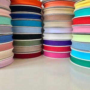 100% Cotton Bias Binding Tape (25mm) Folded Quilting Trim Sold per metre