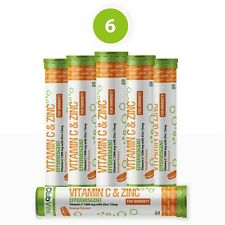 Vitamin C 1000mg & Zinc 15mg 120 Effervescent Tablets Orange Flavour | ClubVits