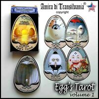 Eggs tarot card cards deck guide book wicca oracle rare collectible vintage egg