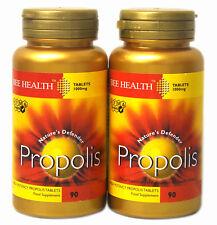 2 x Bottls Bee Health PROPOLIS 1000mg x 90 Tablets healthy immune system