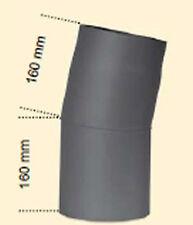 Robusto kaminofenrohr TUBO DE HUMOS Unión Soldada Ø 150 - 11° Arco GRIS UNIFORME