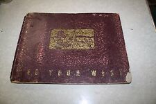 1941 STANDARD OIL SEE YOUR WEST 22 PHOTO PRINT ALBUM FREE SHIPPING
