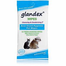 Glandex® Pet Wipes, Cleansing & Deodorizing Anal Gland Hygienic Wipes - 24 count