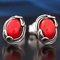 Koralle Silber 925 Ohrringe Damen Schmuck Sterlingsilber S137