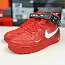 Nike Air Force 1 Mid LV8 Utility 'University Red' [AV3803-600] Size 6Y Women's 7