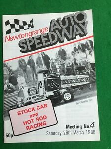 Stock car racing programme Newtongrange 26th March 1988