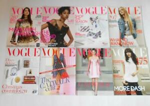 Vogue UK Magazine Supplements 2015-2016. 8 Magazines inc. Dua Lipa