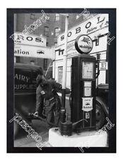 Historic Mobil Gas Station Pump Postcard