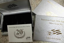 2006 American Eagle 20th Anniversary Silver Coin Set Mint packaging, NO COINS,