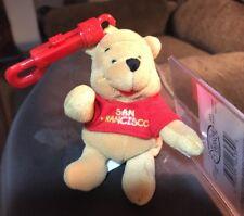 "Disney San Francisco Pooh 4"" Keychain Beanbag Plush New W/tags RARE"