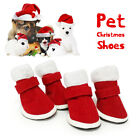 Pet Shoes Breathable Anti-Slip Winter Warm Soft Christmas Boots For Dog Puppy