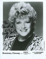 ROSEMARY CLOONEY SINGER / ACTRESS IN WHITE CHRISTMAS SIGNED PHOTO AUTOGRAPH