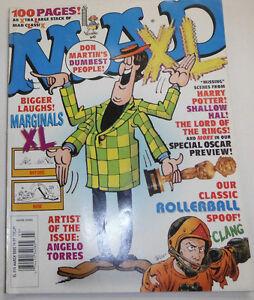 Mad Magazine Marginals XL Rollerball March 2002 091814R