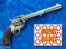 "Replica M1873 ""CAVALRY"" PISTOL Peacemaker Prop Gun NICKEL Cowboy Clint Eastwood"