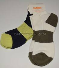 Gymboree Desert Explorer S 4-6 Socks 2 pack Shoe sz 10-12 White Navy Green